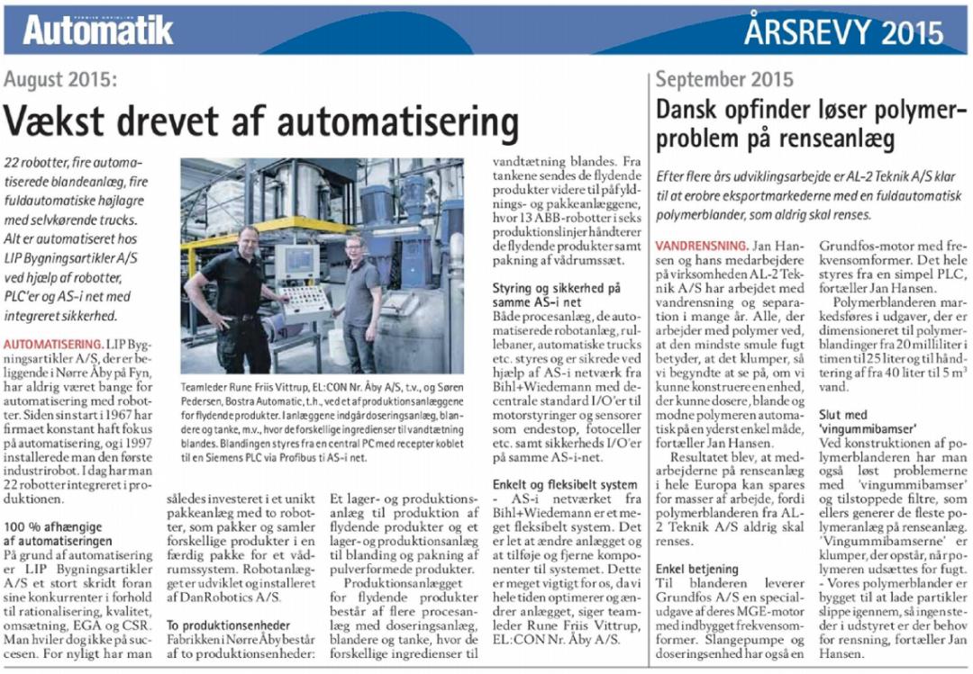Vækst drevet af automatisering